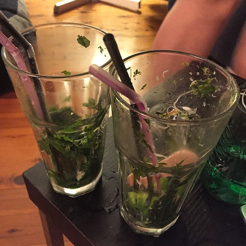 2 Mojitos down 😏 time for the sack. Only 500 steps ahead. Don't reckon I'll win the Workweek Hustle this week