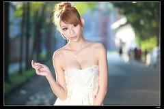 nEO_IMG_DP1U9024 (c0466art) Tags: light sunset portrait white sexy female nice asia warm soft outdoor taiwan mini skirt showgirl figure attractive charming c0466art canon1dx pretty