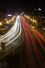 Opposed (mikemcnary) Tags: longexposure cars lights downtown unitedstates lexington kentucky