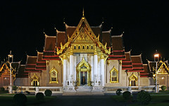 w0000106 (PRMF) Tags: houses light house building architecture night buildings asian thailand outside religious outdoors temple lights photo site worship asia exterior place shot outdoor bangkok glory faith belief buddhism nighttime photograph seeing thai temples cult nights worth sight lit wat siam sights marbel sanctum creed splendour splendor pomp buddhistic splendiferous gourgeous benchamabophit sanctums gourgeosness