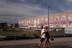 Untitled (inafreeland) Tags: people film 35mm newjersey mural nj atlanticcity boardwalk manual ac jerseyshore strolling konicatcx fujifilmsuperiaxtra400