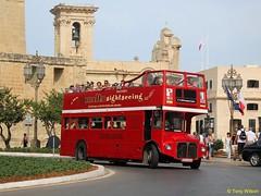 Supreme Travel (COY 004) AEC Routemaster Valletta 1 (Copy)a (focus- transport) Tags: malta bus buses p public transport routemaster titan presedent daimler fleetline thamesdown lte london opentoppers rm leyland optare metrobus