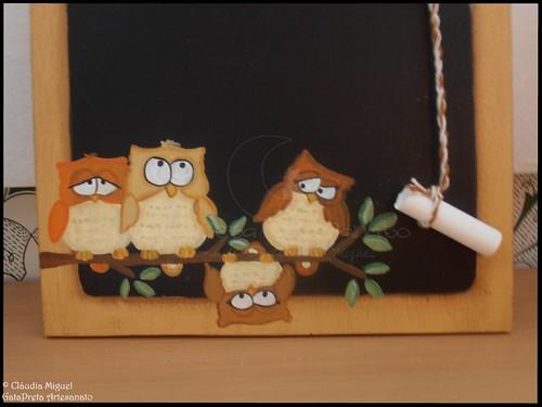 """Tábua-quadro de cozinha """"Cute Owls"""""""