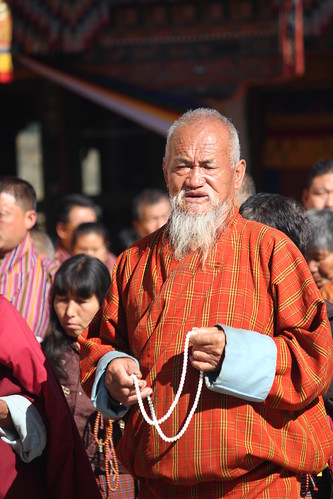 Thimphu, Memorial Chorten, old man