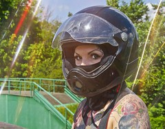 b733 (no_penetrate) Tags: girl helmet moto balaclava