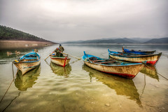 Boats of Lake (Nejdet Duzen) Tags: trip travel lake reflection turkey boat fishing dam trkiye sandal grayday gl yansma turkei seyahat baraj manisa balklk salihli demirkprbaraj demirkprdam grign
