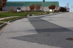 Asphalt Patch (soulsurvivor1968) Tags: street graphic baltimore industrialpark asphalt barehills clarkviewroad