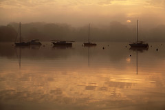 Sunrise (rogermarcel) Tags: sun mist colors yellow sunrise soleil boat brume waterscape rogermarcel