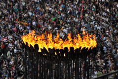Fanning the Flames (Chip_2904) Tags: uk london stadium torch olympics olympicstadium 2012 london2012 olympictorch