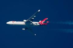 Martinair Cargo MD-11F PH-MCS (Thames Air) Tags: martinair cargo md11f phmcs contrails telescope dobsonian overhead vapour trail