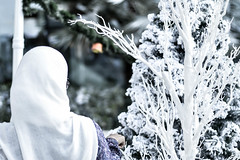_DSC0429 (M.Sami photography (Create.Inspire)) Tags: woman snow tree back hijab hd behind