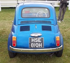 Fiat 500 (occama) Tags: old uk blue classic 1969 car mouse italian cornwall fiat 500 bambina bambino hse810h