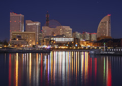 Colorful Cityscape  (Alpha 2008) Tags: nightphotography sea japan harbor cityscape sony  yokohama alpha kanagawa  minatomirai   autofocus
