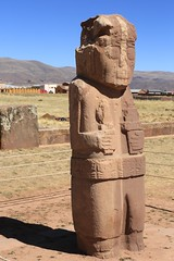 Once Upon a Time...10 Tiahuanacu Tiwanacu Altiplano Bolivia South America (eriagn) Tags: travel blue winter woman snow mountains history abandoned southamerica grass hat mystery buildings spectacular landscape photography haze ancient ruins dress mud stones vibrant traditional farming straw statues railway sunny bolivia adventure drought empire huge historical crops colourful shawl bowler archeology weaving carvings rugged harsh altiplano highaltitude excavations tiahuanacu preinca railwaylines eriagn ngairelawson ngairehart tihawanku