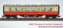 Lego LNER Thompson Corridor Composite Coach (michaelgale) Tags: composite coach lego corridor passenger thompson moc britishrailways lner