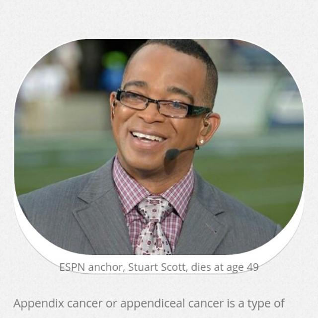 R.I.P Stuart Scott, you had a tough fight!   #StuartScott #AppendixCancer #Cancer #CancerFight #FightCancer #CancerBattle #BattlingCancer #RareCancerTypes #GastrointestinalCancers #PostChemoWorkout   http://www.cancerresearch
