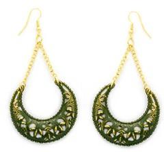Glimpse of Malibu Green Earrings P5812-5]
