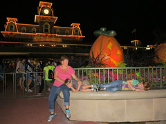 After a Long Day at Disney (babyfella2007) Tags: park family boy vacation people woman holiday jason beach sc halloween face animal night ball carson pumpkin fun nose lights living amusement crazy funny child florida grant south magic crowd arcade young mother michelle kingdom son games disney southern tired taylor carolina myrtle beaufort skee 2014 2015