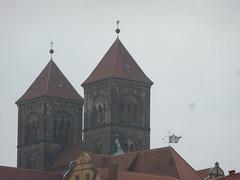 Die Kirchtrme auf dem Schlossberg. (Swassermatrose) Tags: germany deutschland oldhouse 2014 sachsenanhalt quedlingburg