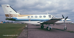 D-IATB - 1976 build Cessna 421C Golden Eagle II, visiting the 1977 Business and Light Aviation Show at Cranfield (egcc) Tags: 1977 cessna goldeneagle cranfield 421 421c cessna421 egtc businessandlightaviationshow n28835 n3264b n427jm 421c0103 diatb