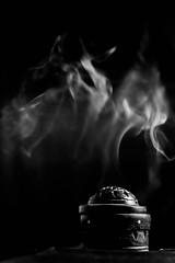 incense (D [Red] Photography) Tags: new longexposure blackandwhite macro monochrome closeup canon happy long exposure edmonton smoke calm incense 2014 yeg