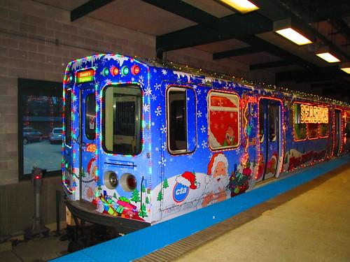 2014 cta holiday train at linden - Cta Christmas Train 2014