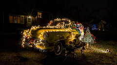 The Muppets Take Christmas (gimmeocean) Tags: longexposure animal newjersey cab taxi muppets nj yellowcab le grover stringoflights kermit yardart christmasdisplay kermitthefrog yellowtaxi rahway holidaydisplay lawndisplay 1954chevy slopoketaxiservice 1954chevy210sedan