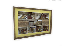Cafe Interior Design, Framed Poster (samir mavric|architectural visualization) Tags: architecture modern project sketchy poster design 3d cafe view drawing framed interior perspective architectural frame presentation visualization pesrspective