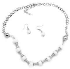 5th Avenue White Necklace P2630A-1
