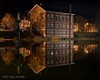 Stillness (esmith132) Tags: newburyport bartletmall charlesbullfinch superiorcourthouse lights night pond reflection