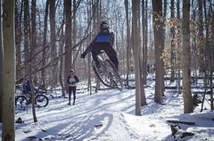 Snowy Avalon Ride (bundokbiker) Tags: snow eye magazine jump air ron dirt rag avalon mag riders patapsco tsao dirtragmag