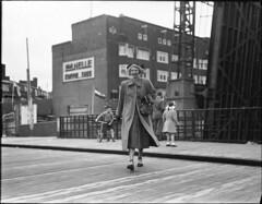 09-17-1949_06560A Fanny op de nieuwe brug (IISG) Tags: bridge woman amsterdam sport female traffic reclame brug publicity vrouw vannelle verkeer advertissement benvanmeerendonk fannyblankerskoen