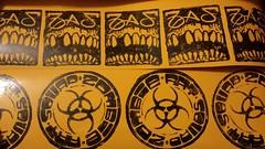 new zas prints (andres musta) Tags: art stickerart zombie blockprint squad zas