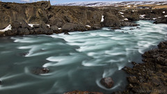 panta rhei (lunaryuna (back from Iceland and catching up)) Tags: longexposure water river season landscape iceland spring rocks rapids le gorge lunaryuna myvatnarea goafosswaterfall riverskjlfandafljt seasonalwonders volcanicgorge centralnorthiceland