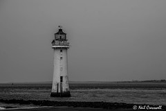 132/366 Wet And Windy Day (crezzy1976) Tags: uk england blackandwhite lighthouse wet monochrome landscape seaside nikon cloudy outdoor photoaday 365 wirral day132 newbrighton merseyside d3100 crezzy1976 photographybyneilcresswell 366challenge2016