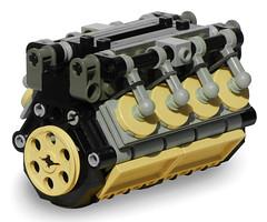 LEGO V8 Engine (aillery) Tags: lego diesel engine v8 internal combustion