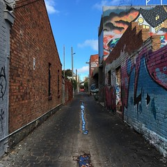 colours of Melbourne (nakgnehc) Tags: graffiti fitzroy australia melbourne uncropped backlane iphonese