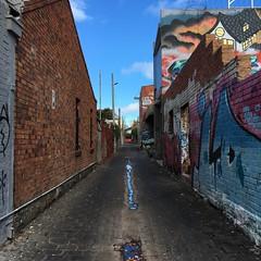 colours of Melbourne (nakgnehc) Tags: graffiti fitzroy australia melbourne uncropped backlane iphonese