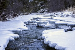 Seaton Trail (KMG Pictures) Tags: winter snow cold ice nature water creek river outdoors frozen stream brook icicles