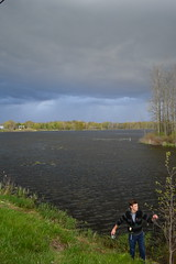 Bannister Lake, Ontario (douglasmmiller810) Tags: lake fish storm landscape fishing day cloudy doug father son brock pike bannister