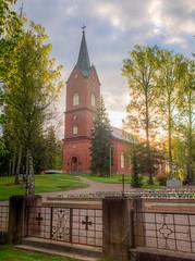 Mntsln kirkko (MikeAncient) Tags: church cemetery graveyard architecture finland geotagged spring hdr kirkko hautausmaa mntsl arkkitehtuuri kevt tonemapped tonemap 5exp