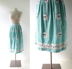 1950s Resplendent Quetzal handwoven Guatemalan skirt (Small Earth Vintage) Tags: blue red bird skirt 1950s 50s guatemalan handwoven vintageclothing vintagefashion resplendentquetzel smallearthvintage rigaltdesign