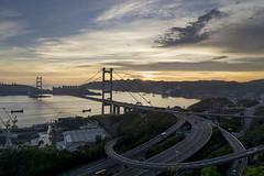 A hot day (ii) (edward.cheung) Tags: sunset summer sky hongkong bride tsingmabridge tsingyi a6000