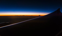 Rainbow Dawn (bdrc) Tags: asdgraphy sony a6000 selp1650 sunrise dawn rainbow color plane wing flight cloud line morning travel trip korea