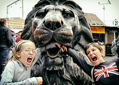 Lion Bites (Steve Lundqvist) Tags: uk england london kids children jack europe king flag united union lion eu kingdom bite ue brexit