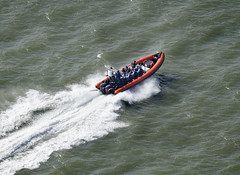 Coastal Voyager off Southwold in Suffolk - aerial image (John D F) Tags: boat suffolk speedboat aerialview aerial northsea rib powerboat southwold aerialphotography aerialphotograph airtoground aerialimage rigidinflatable coastalvoyager