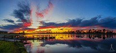 SUNRISE REFLECTIONS (Laws Photography | www.lawsphotography.com) Tags: sky panorama seascape color reflection water beautiful skyline clouds sunrise canon reflections landscape pier colorful jetty panoramic beautifulskies pattersonlakes sunrisetime amazingskies canon6d melbournesunrise lawsphotography vaughanlaws