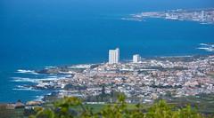 Ponta Delgada (free3yourmind) Tags: above travel blue houses sea sky portugal water buildings view panoramic azores pontadelgada