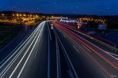 An der Autobahn-1 (visiological) Tags: longexposure berg de bayern deutschland autobahn langzeitbelichtung