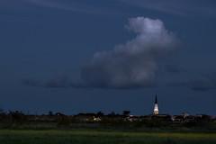 Ars en R (Michel Couprie) Tags: cloud france church night canon eos village belltower bluehour michel nuage ars nuit glise ileder charente clocher couprie ef10028lmacro